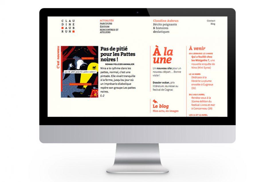 Claudine Aubrun, site web