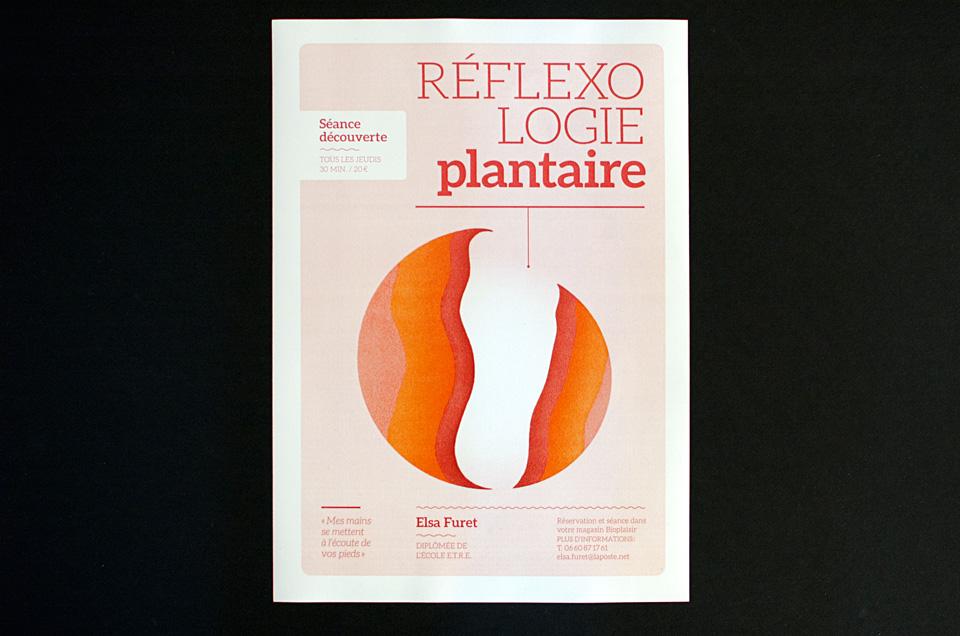 Elsa Furet, réflexologue plantaire, affiche