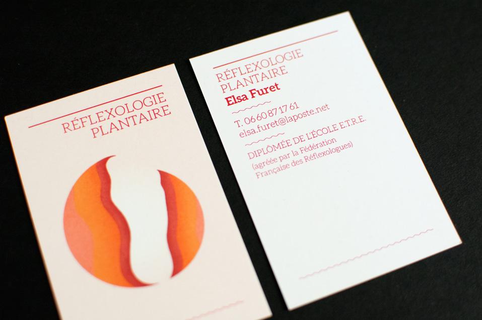 Elsa Furet, réflexologue plantaire, carte de visite