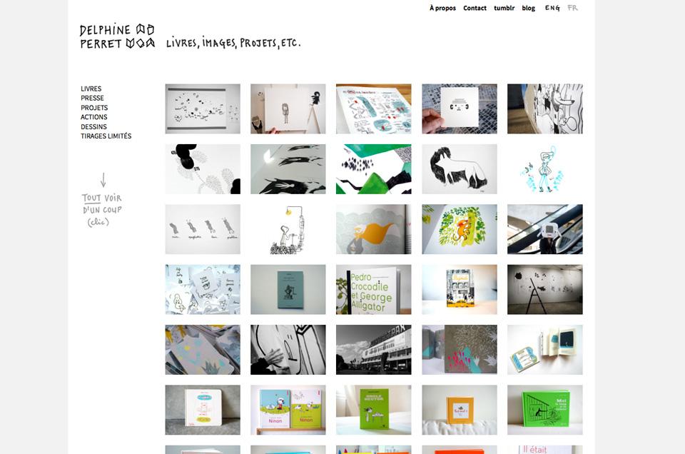 Delphine Perret, site web