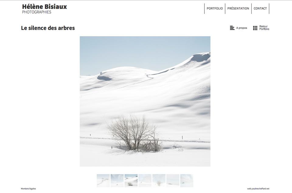 Hélène Bisiaux, site web